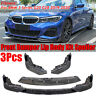 Golss Black Front Bumper Lip Spoiler Splitter For BMW 3 Series G20 G28  !*