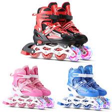 Inline Skates für Kinder Rollschuhe Einstellbare Größe 31-42 Mädchen Junge I2O1