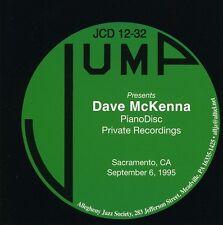 Dave McKenna - Pianodisc Private Recordings [New CD]