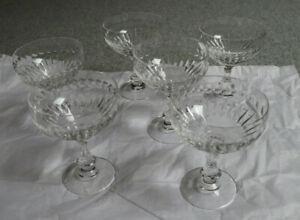 Sektschale +++ Glas +++ Champagner-Schale +++ Kristall +++ 6 Stück