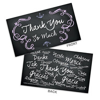 100-Pack Thank You Bulk Business Card Black White Thank You Note Special Cards