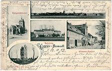 GRASSO Bismark, S W.Cartolina gelaufen 1902 con bahnpoststempel