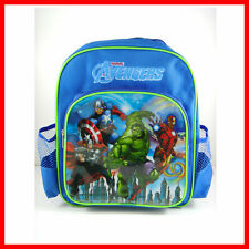 "Super Hero Avengers Hulk Iron Man Captain America 12"" Kids School Backpack Bag"