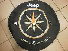 Brand new MOPAR Jeep denim Spare tire cover with compass logo OEM 82210884AB