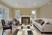 Black White 5x7 CC3002 Modern Contemporary Decorative Floor Rug Brown Lines