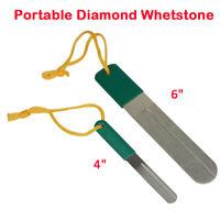 Carp Fishing Hook Diamond Sharpener Dual Sided with Lanyard Tackle Hone Stone UK