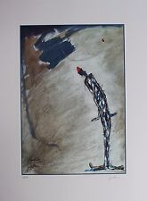Jan Born Original Lithograph Hand Signed Numbered Limited Edition Figure