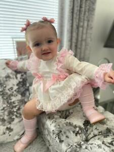 DREAM 0-5 YEARS spanish frilly long sleeved top frilly bum pANTS or reborn dolls
