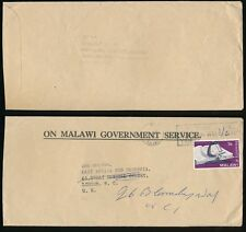 MALAWI 1965 OFFICIAL GOVT.SERVICE PRINTED ENVELOPE + 1/6 ADHESIVE