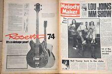 Melody Maker 18th August 1973 Fripp Jagger Goons Alan Price Quatro Strider JSD