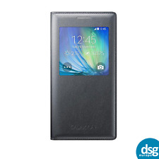 Genuine Samsung  S View Charcoal Black Flip Case EF-CA500 for Galaxy A5 (2015)