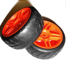 02185 1/10 On Road RC Car Wheels and Tyres x 2 Red
