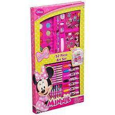 Enfants Khildrens Disney Minnie Mouse 52 pièce Art Set Crayons marqueurs peinture & plus