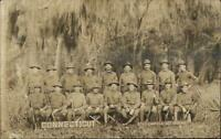 State Camp Florida CONNECTICUT Troops 1915 Camp Johnston? SCARCE RPPC #1