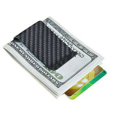 Money Clip 100% Real Carbon Fiber Card Wallet Cash Holder Purse mini Business