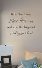 better than I was more than I am vinyl wall art decal sticker home house decor