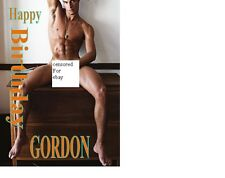 GAY MAN  A5 PERSONALISED BIRTHDAY CARD ANY NAME ANY AGE