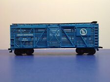 "HO ""Great Northern"" 40' Livestock Cattle Freight Train Car / 582033 Blue Version"