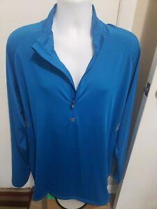 Under Armour HeatGear Loose Fit Men's  3/4 Zip Pullover Shirt XXL STRETCH EUC