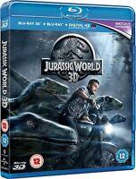 Jurassic World [Blu-ray 3D + Blu-ray] [2015] Chris Pratt New Sealed