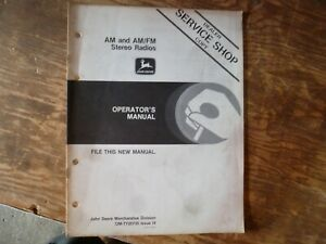 John Deere AM & AM/FM Stereo Radio Owner Operator Manual OMTY20735