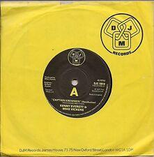 """Kenny Everett & Mike Vickers """"capitán Kremmen"""" (retribución) UK 45 7"""" SINGLE"""