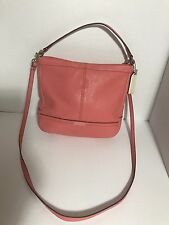 Coach Park Leather Mini Duffle Silver And Tearose Crossbody Bag