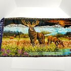 """Stag Wall Tapestry Deer Doe Buck Cabin Decor Man Cave Hunting Vintage 43""""x20"""""""