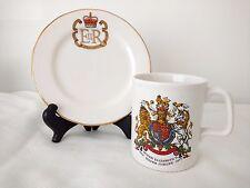 """Queen Elizabeth Jubilee 1977 6"""" Bread Plate & Mug"""