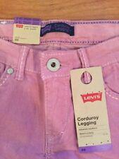 NWT Levis 14 Reg Girl Corduroy Jeggings Lilac Pink Pants