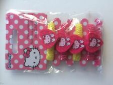 Hello Kitty Pack of 4 Hair Bands Bobbles Pony Tail