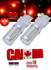 2x 3157 T25 Red LED 33SMD 5630 Car Turn Signal Blinker Brake Tail Lights DRL 12V