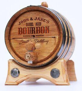 Personalized - Custom Engraved Premium Handcrafted American Oak Aging Barrel