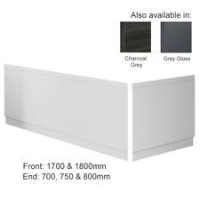 Modern Bathroom MDF Wooden Bath Adjustable Front/End Panel & Plinth Many Sizes