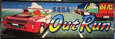 """Sega Outrun (Out Run) Arcade Marquee 23.5"""" x 8"""""""