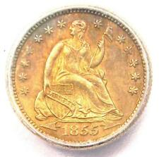 1855 Seated Liberty Half Dime H10C Coin - Certified ICG MS61 (UNC BU)!