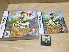 Go Diego Go Great Dinosaur Rescue Nintendo DS Juego en Caja Con Manual