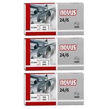 3000 Heftklammern Novus 040-0158, 24/6, verzinkt, 3 Packungen a. 1000 Stück
