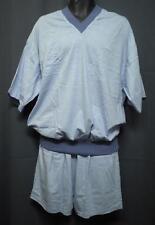 Herrenpyjama kurzer Arm Gr. 52 - helllblau - V-Ausschnitt