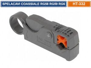 SPELACAVI PER CAVO COASSIALE RG58 RG59 RG6 CCTV VIDEOSORVEGLIANZA