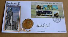 CELEBRATING NORTHERN IRELAND 2008 BENHAM COIN FDC SIGNED BY ANDREA CATHERWOOD