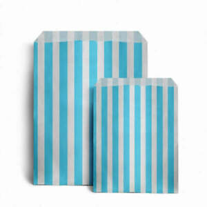 CANDY STRIPE PAPER BAGS SWEET FAVOUR BUFFET GIFT SHOP PARTY Small Medium