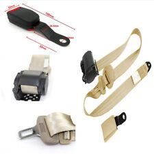 Adjustable 3 Point Safety Seat Belt Lap & Diagonal Belt W/Curved Rigid Buckle