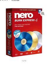 NEW NERO BURN EXPRESS 4 - Windows 7 8 10 BURN COPY CD' DVD BLURAY