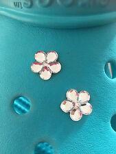 Zapato de Flor Diamante Joya de 2 encantos Para Crocs Y Jibbitz Pulseras Gratis Reino Unido P&p