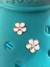 2 Diamond Gem Flower Shoe Charms For Crocs and Jibbitz Wristbands Free UK P&P