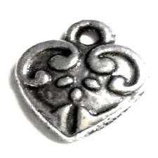 10 PCS Coeur Alliage Charme Pendentif-A0122