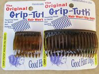 """Shell Grip-Tuth  Side Comb 1 1/2"""" 2 Pack & 3 1/4"""" 2 Pack = 4 Combs Made in USA"""
