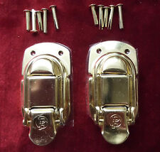 Gold Guitar/Instrument Case Latches/Latch-Set of 2-for Gibson Lifton &USA Brands