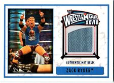 WWE Zack Ryder 2012 Topps WrestleMania 28 Authentic Used Mat Relic Card DWC
